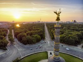 The victory column Tiergarten aerial view
